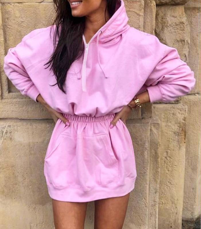 Women's Hooded Mini Dress