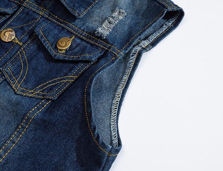 Men's Denim Vest in Blue Colors